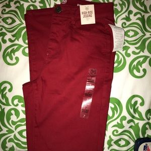 Red High Rise Jegging
